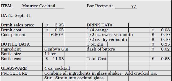 recipe costing template .