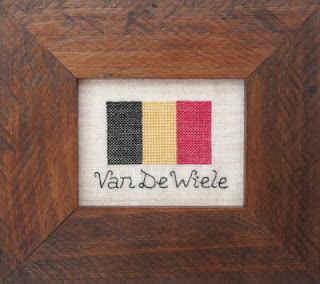 Belgian Flag Personalised Cross Stitch