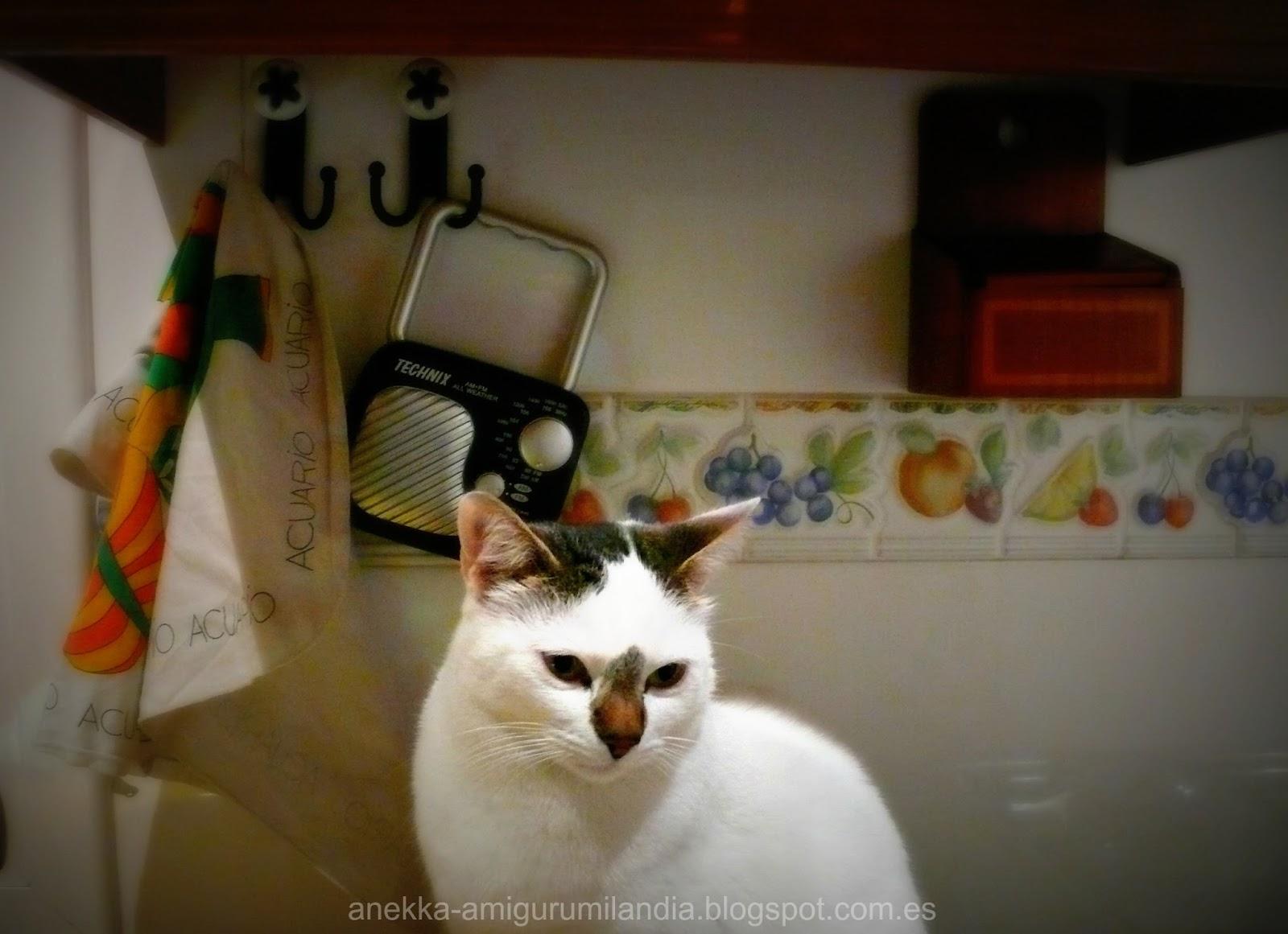 white cat anekka handmade