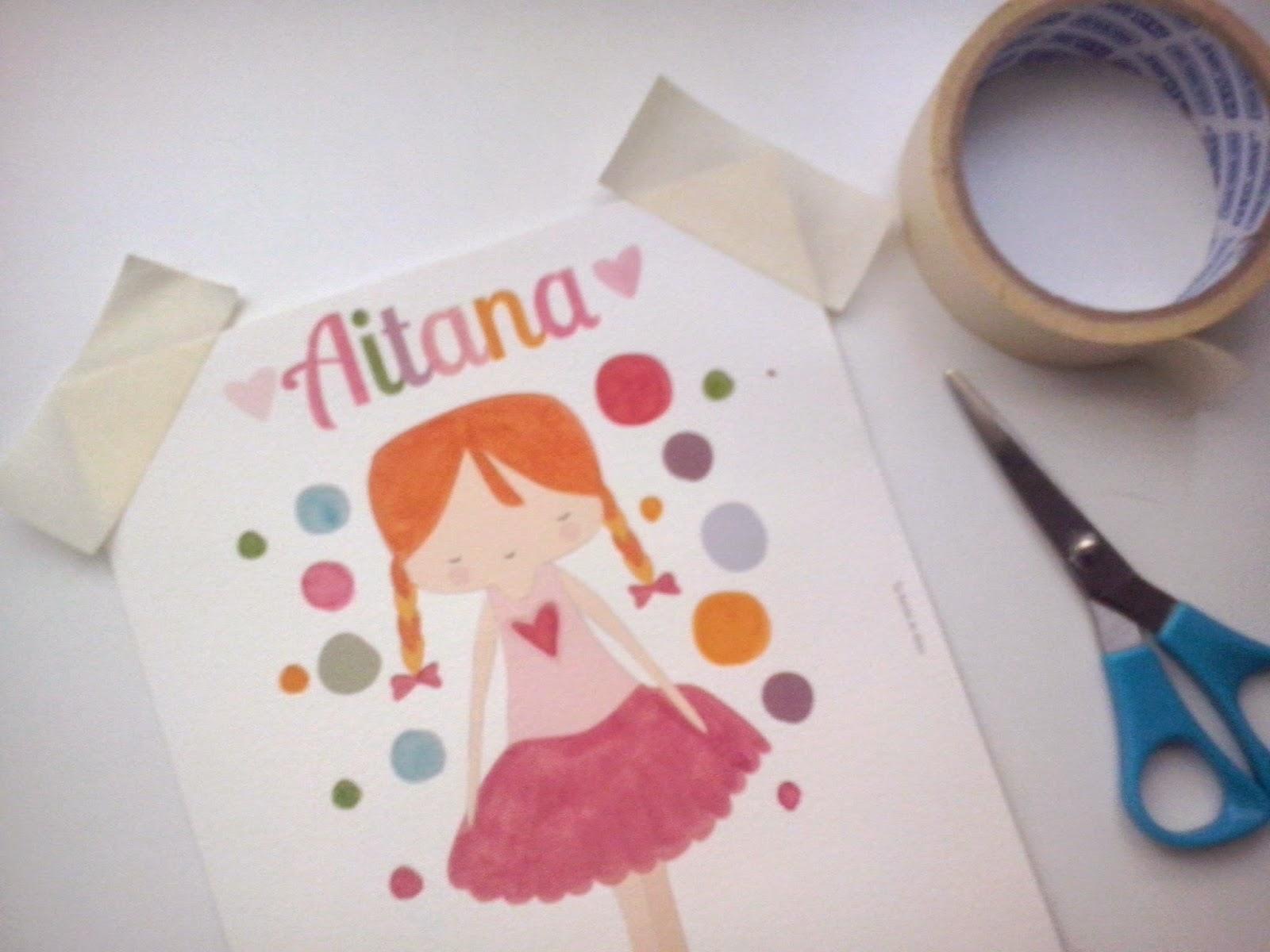 Ideas originales para colgar dibujos e ilustraciones con cordón, lazo y pinzas