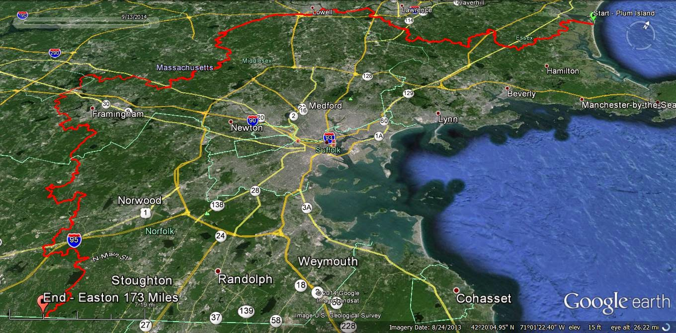 Breakheart Outdoors: Bay Circuit Trail Hike Map 10 & 11 - Route 1 ...