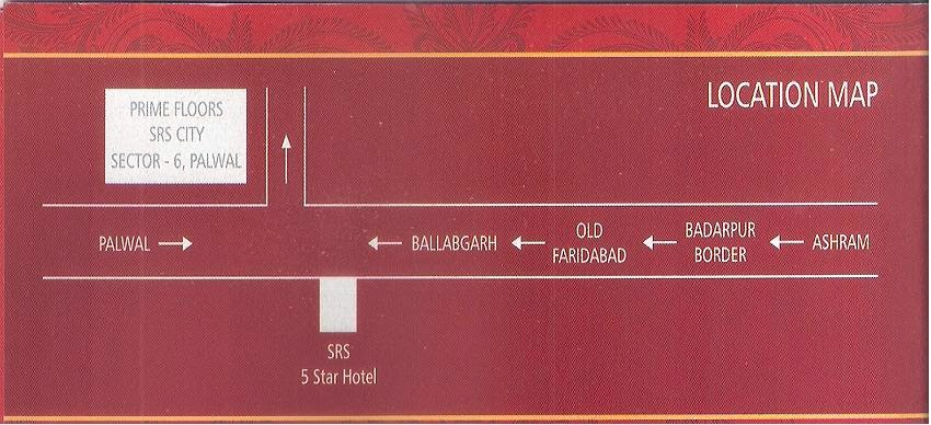 Location of Prime Floors Palwal