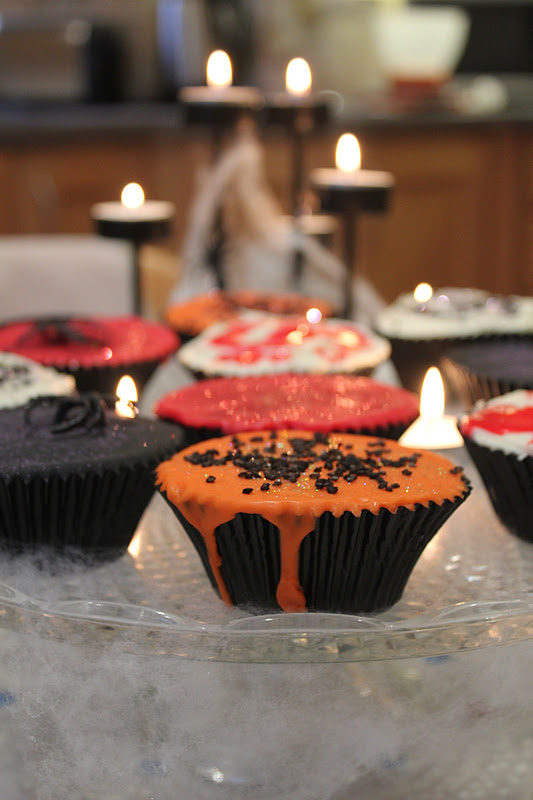 Creepy Cupcakes Top the cupcakes with the