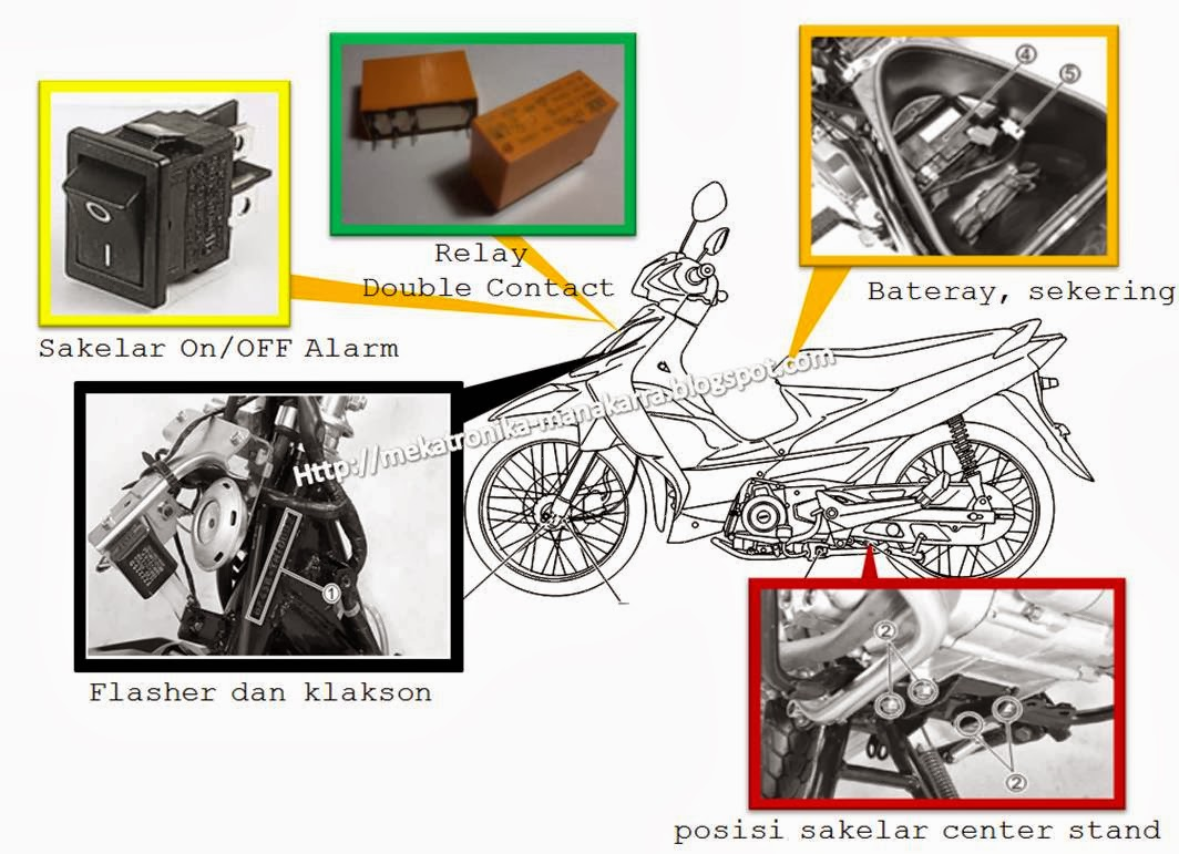 Mekatronika Manakarra  Membuat Alarm Anti Maling Vers 01 Pada Sepeda Motor