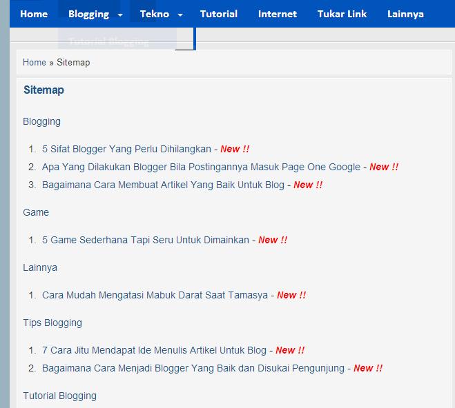 Cara Gampang Membuat Sitemap Atau Peta Situs Untuk Blog
