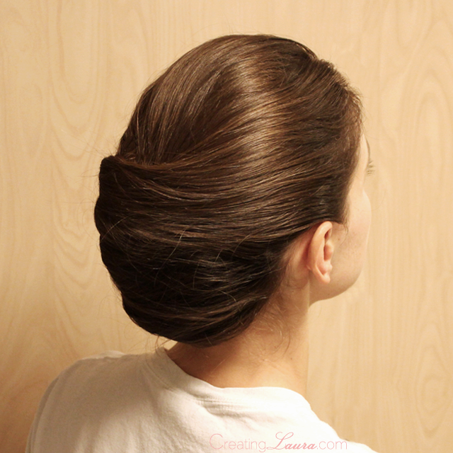 Creating Laura: Bridesmaid Hairstyle Idea #1: The French Twist