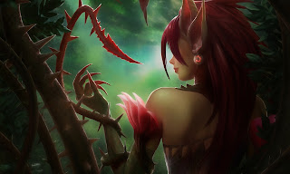 league of legends, zyra, girl