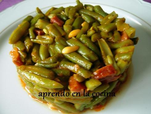 Aprendo en la cocina jud as verdes con chorizo y jam n - Judias con chorizo y patatas ...