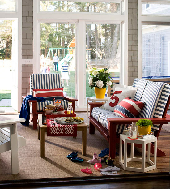 Modern furniture decorating porches ideas for summer 2013 for Four season porch plans