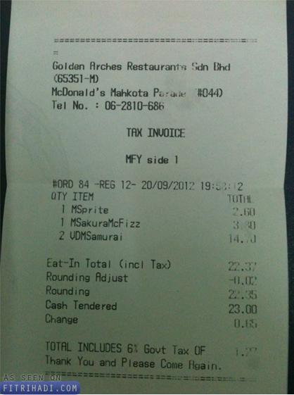harga mcdonalds samurai beef burger