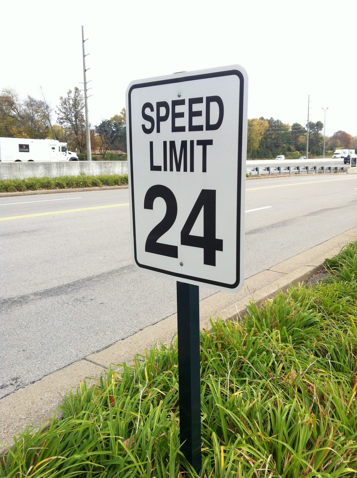 Have You Ever Seen A 24 Speed Limit Sign We Thought It Was Strange