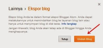 cara backup artikel / postingan blog