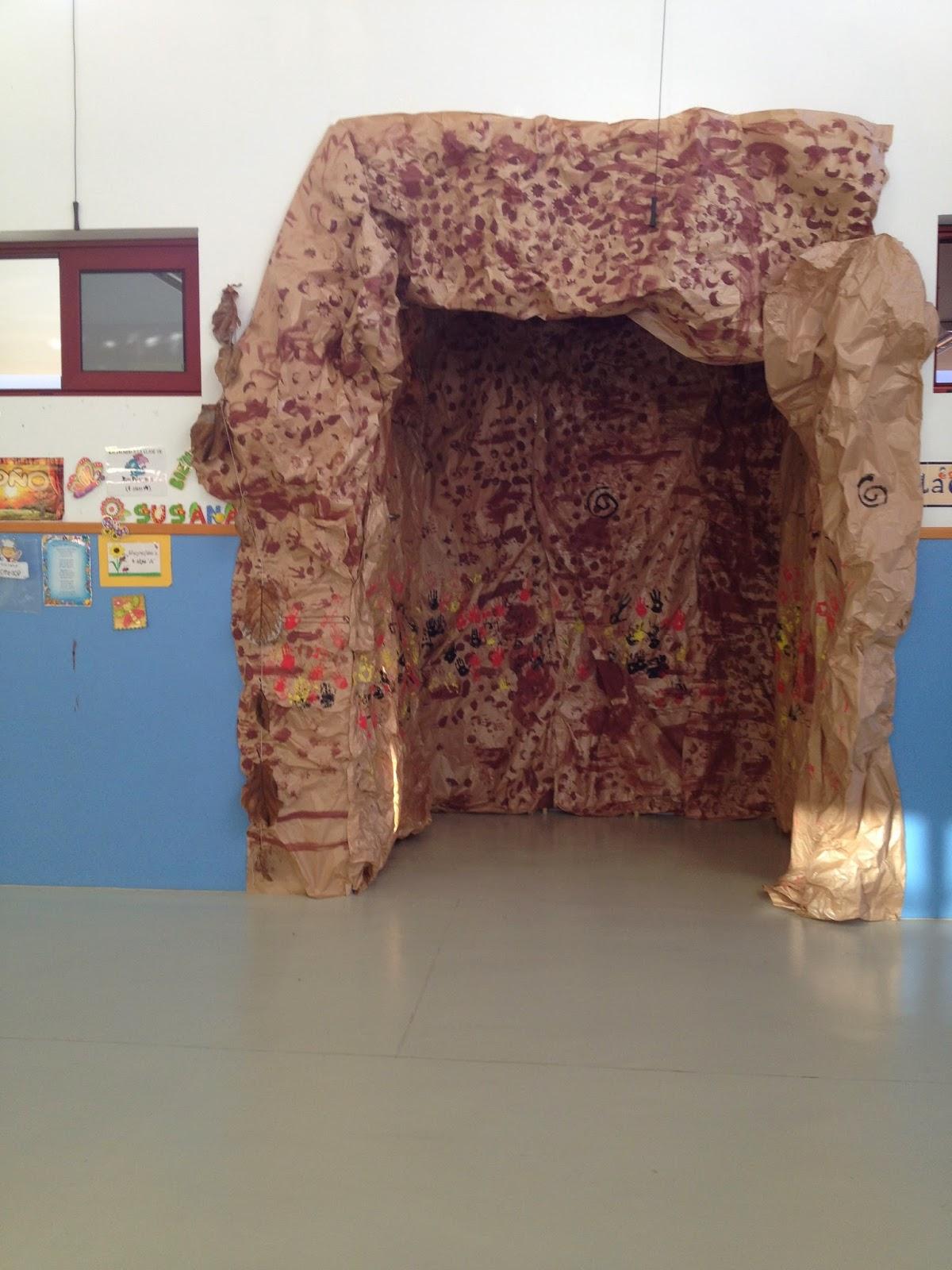 Hacemos una cueva prehis rica en clase for Como hacer un proyecto de comedor infantil