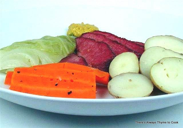 Corned Beef Glazed In Honey And Mustard Dinner With Cabbage Recipe ...