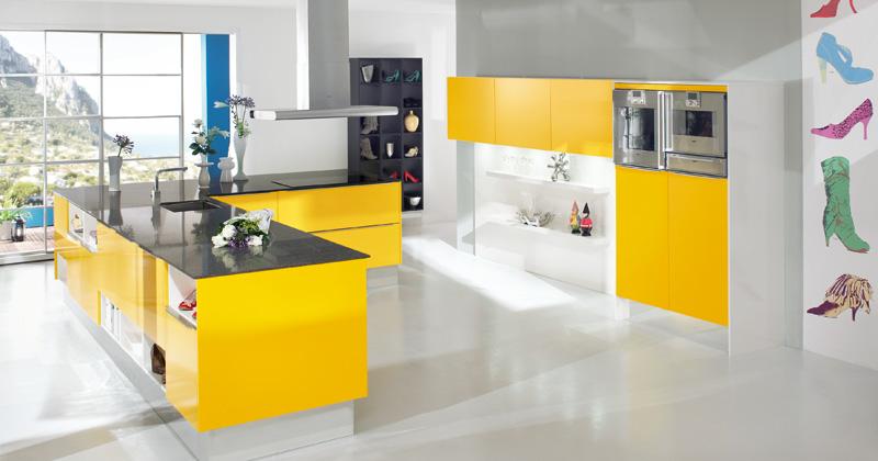 Muebles y decoraci n de interiores cocinas de color amarillo for Colores para interiores de cocina
