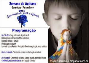 Semana do Autismo-- Clique na foto e veja a programação.