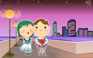 romantic cartoons hd wallpapers