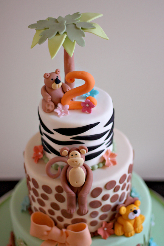 Elizabeths Zoo Theme 2nd Birthday Cake The Couture Cakery