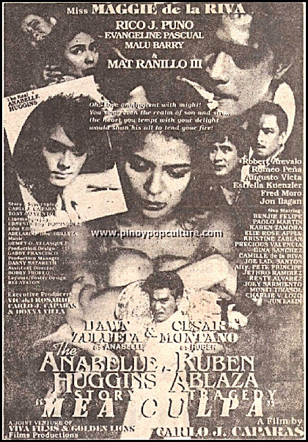 The Annabelle Huggins Story - Ruben Ablaza Tragedy, movies, Cesar Montano, Dawn Zulueta, Carlo J. Caparas