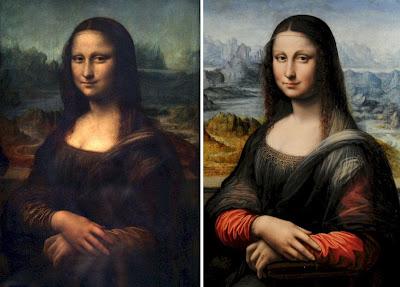 A comparison of the Louvre and Prado Mona Lisa portraits