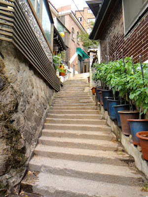 Staircase in Bukchon Hanok Village Seoul