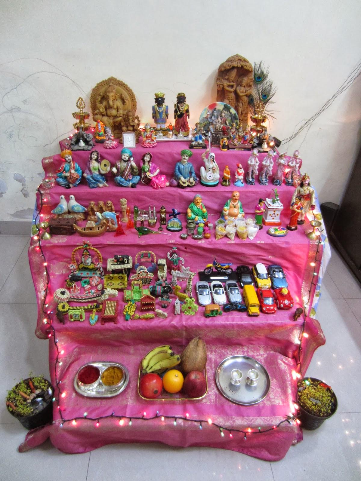 my world navratri celebration at home  main steps