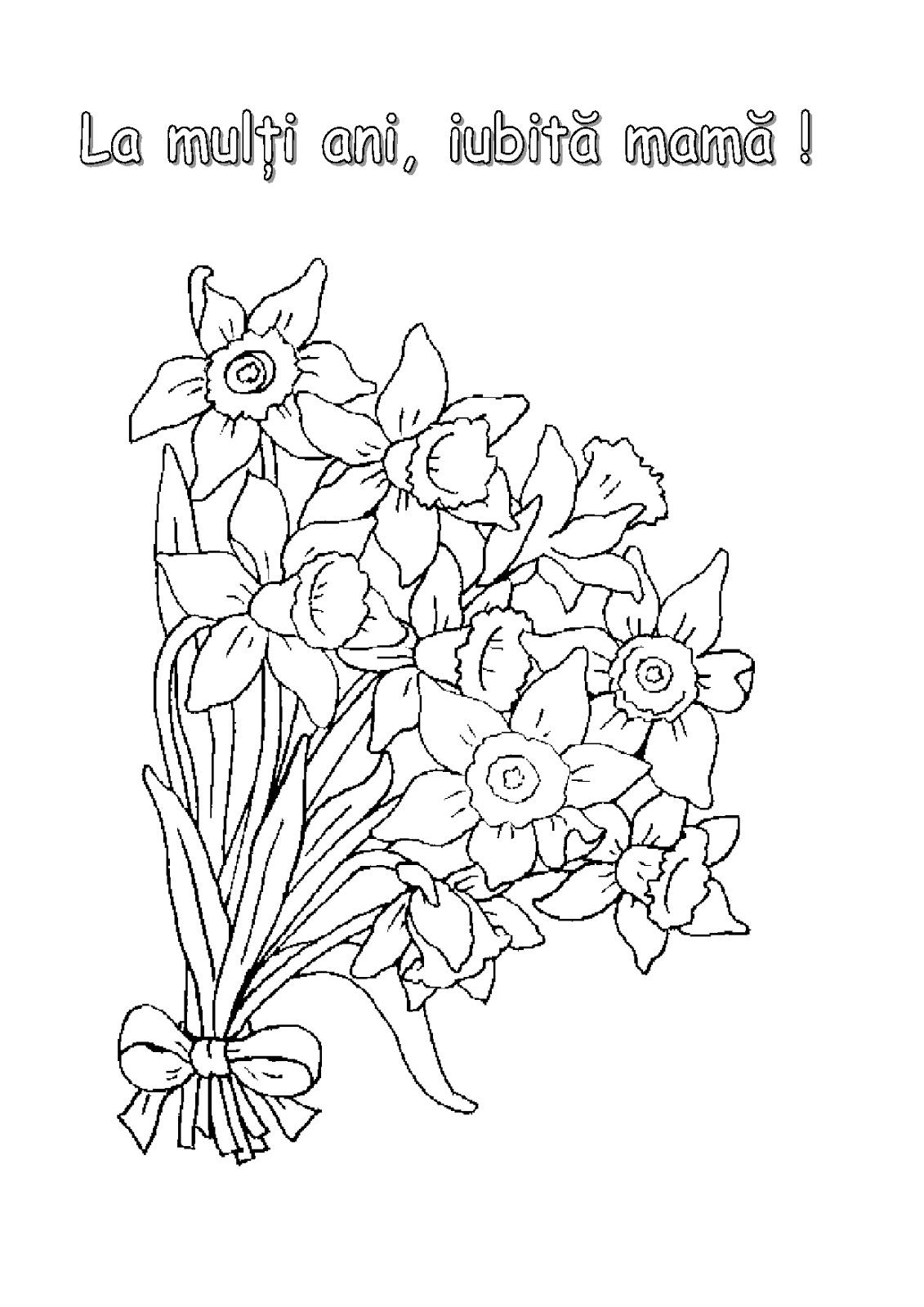 Pentru Copiii Dvs Alte Imagini Cu Flori Gasiti Aici Flori De Colorat