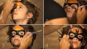 Pintar la cara batman