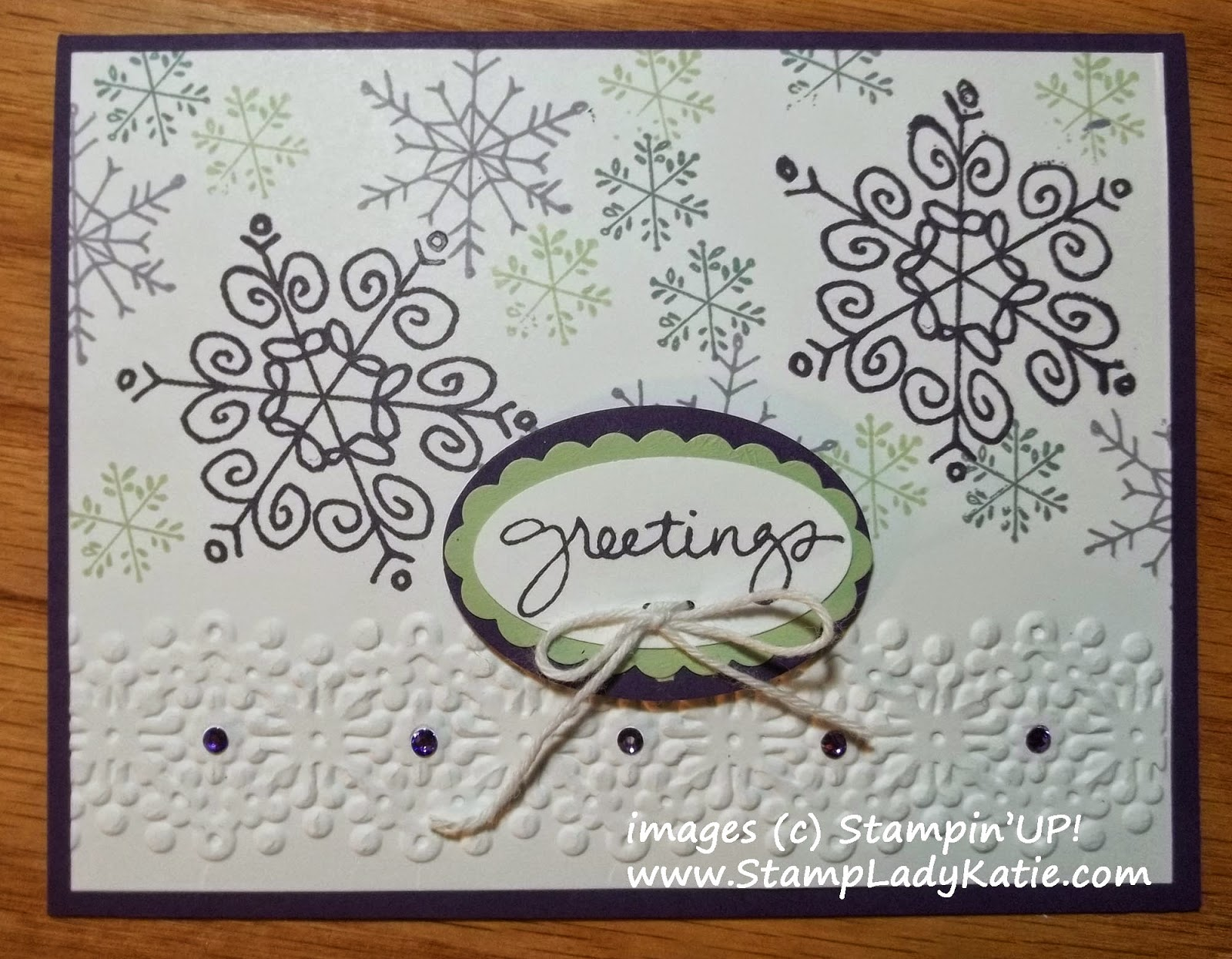Winter Card made with Stampin'UP!'s Endless Wishes Stamp Set