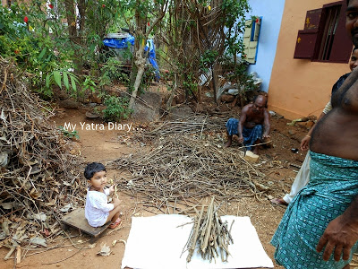 A family in the village of Kannur, Kerala