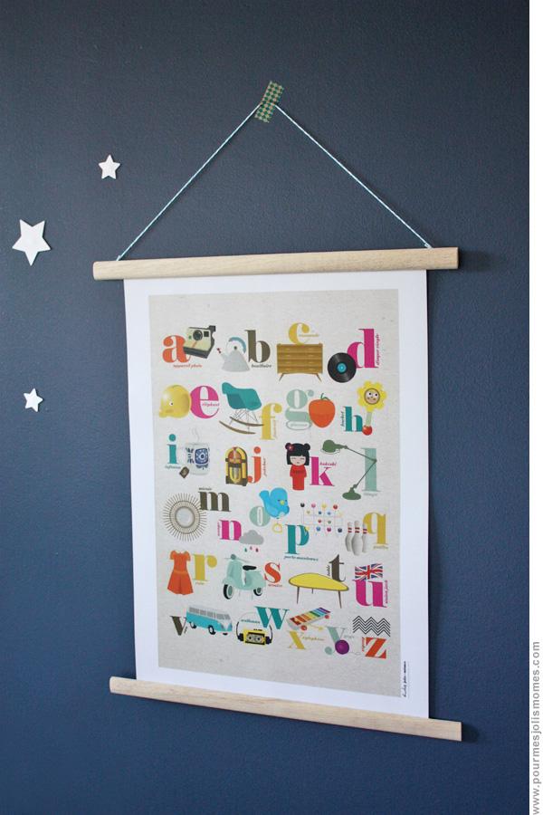 j 39 encadre une affiche en 2 temps 3 mouvements diy. Black Bedroom Furniture Sets. Home Design Ideas