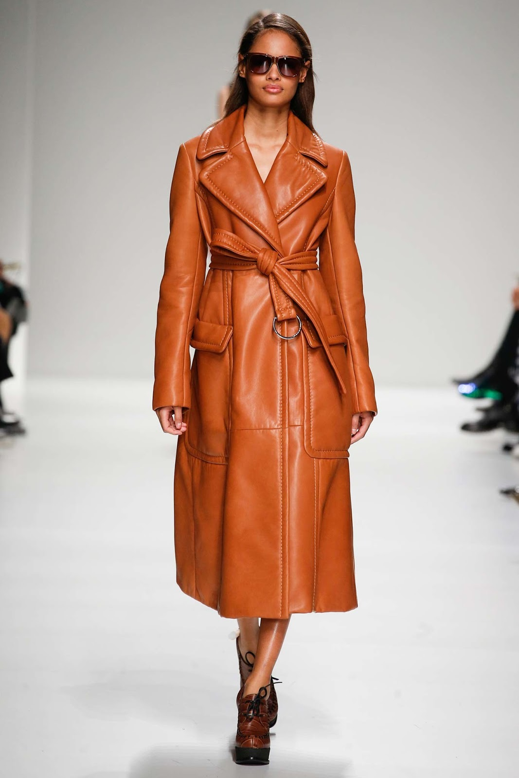 Trench coats as seen on a runway at Sportmax Autumn/Winter 2015 via www.fashionedbylove.co.uk