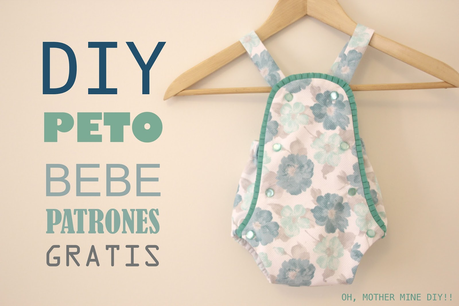 DIY Peto PELELE de bebe (patrones gratis) - Handbox Craft Lovers ...