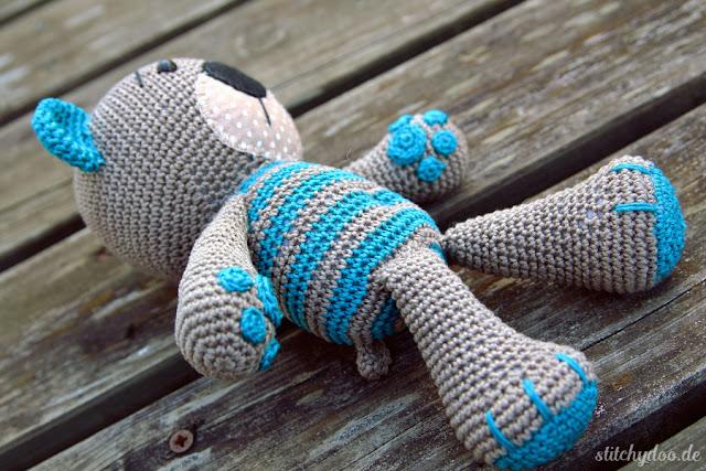 stitchydoo: Tummy Teddy | Gehäkelter Teddy mit ganz besonderen Details