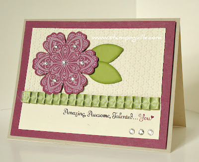 Handstamped Card Featuring Mixed Bunch Stamp Set