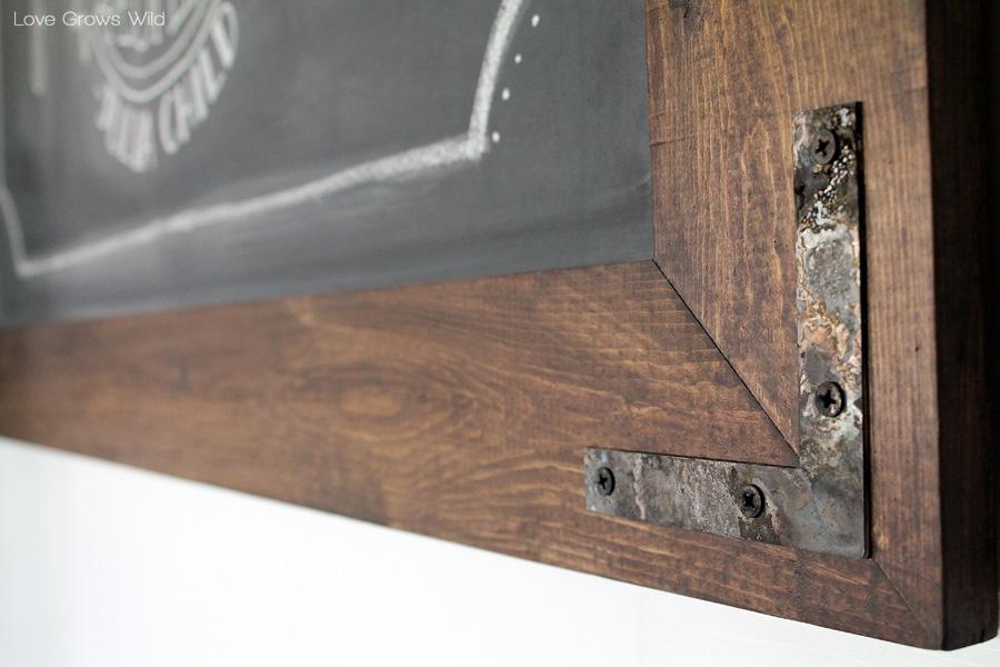 DIY Rustic Industrial ChalkboardLove Grows Wild