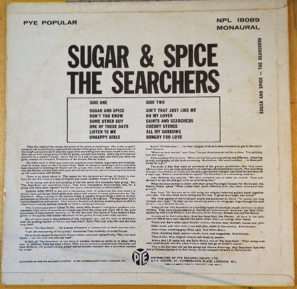 The Searchers Sugar And Spice