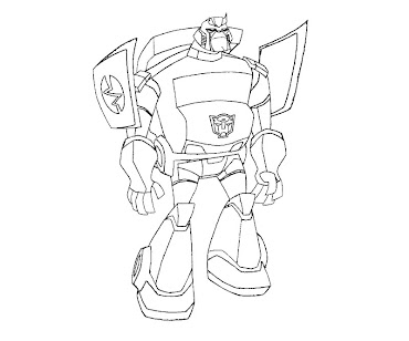#6 Transformers Coloring Page
