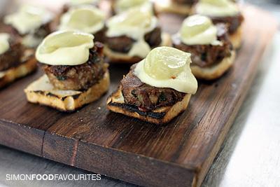 Confit lamb shoulder, white eggplant puree, confit garlic