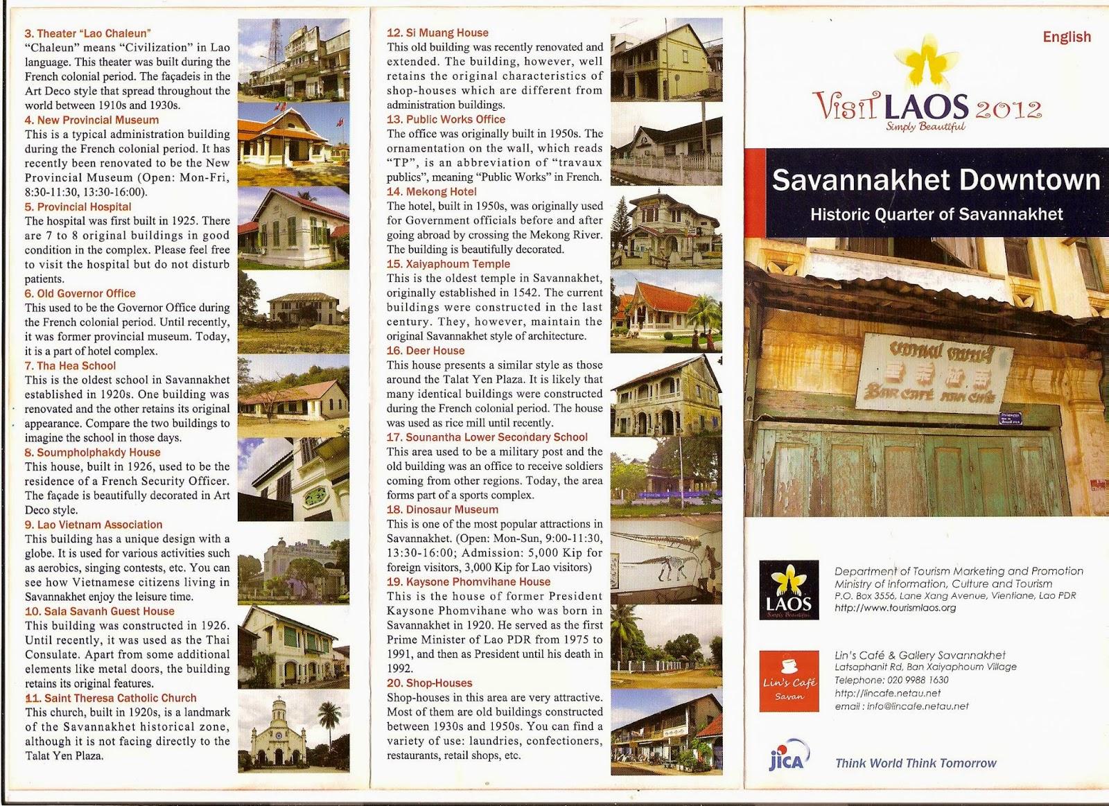 Tourist Map of Savannakhet Laos