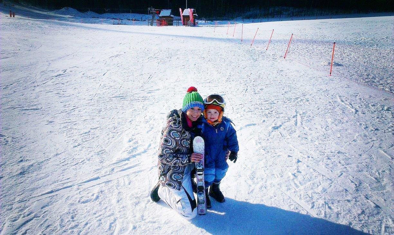 Snowboard A małe dziecko...