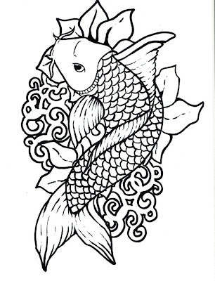 Koi Fish Tattoo Designs Sketch Collection 11