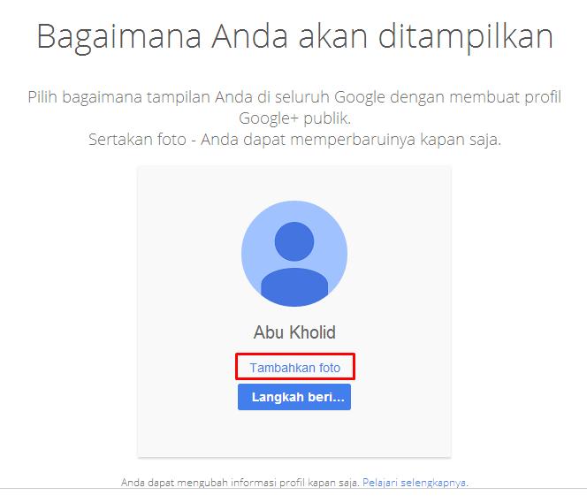 langkah pendaftaran google plus