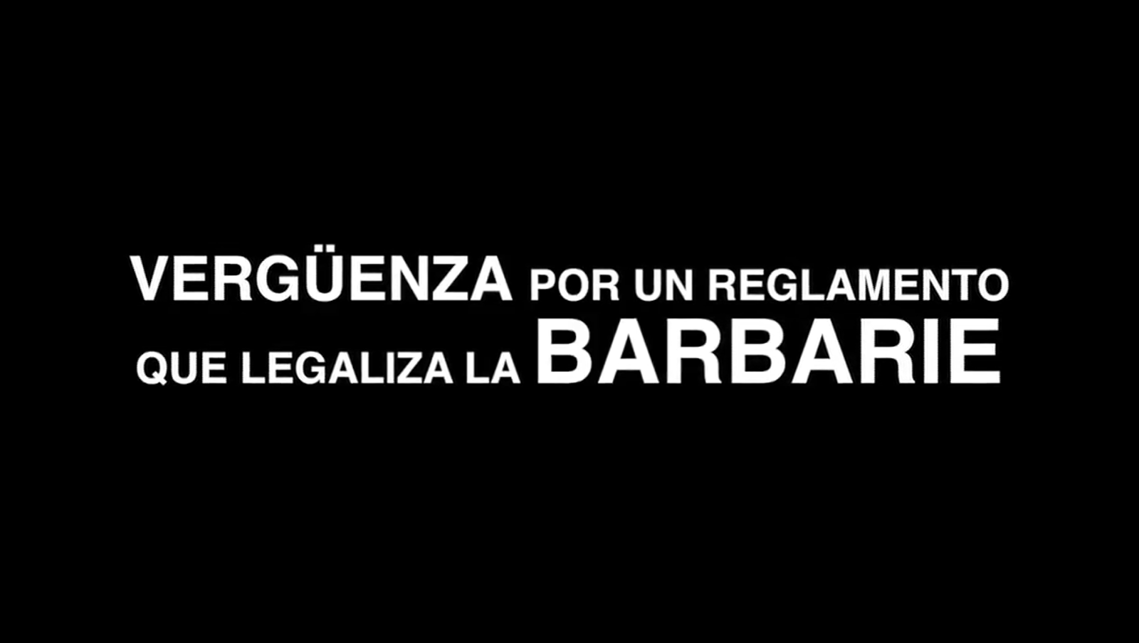 La barbàrie no es pot regular: #ReglamentoVergüenza