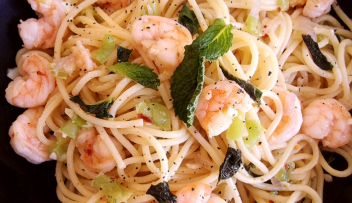 Shrimp Spaghettini