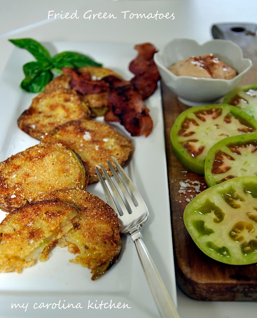 My Carolina Kitchen: Fried Green Tomatoes with Smoked Chipotles in ...