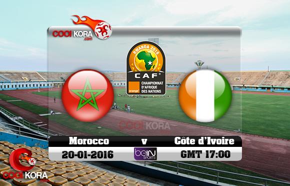 مشاهدة مباراة المغرب وكوت ديفوار اليوم 20-1-2016 في كأس أفريقيا للاعبين المحليين