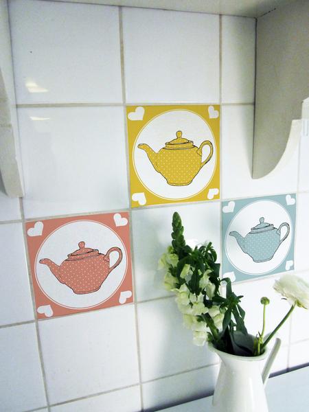 Las ideas m s geniales para ti y para tu casa c mo renovar los azulejos del ba o o la cocina - Pegatinas para azulejos ...