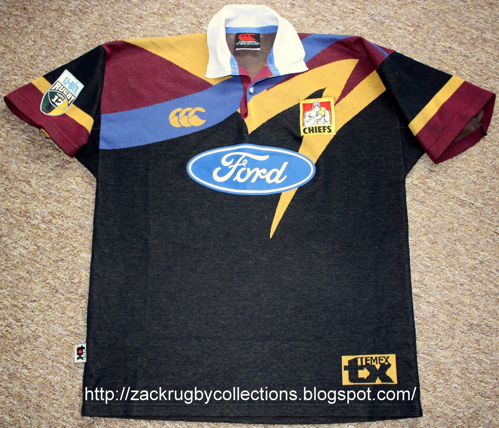 Zackrugby Collections Vintage Chiefs Super 12 Pro Home Rugby Jersey