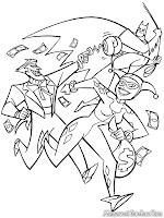 Gambar Batman Melawan Joker Untuk Diwarnai